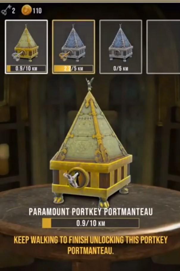 Zbiranje ključev v igri Harry Potter Wizards Unite